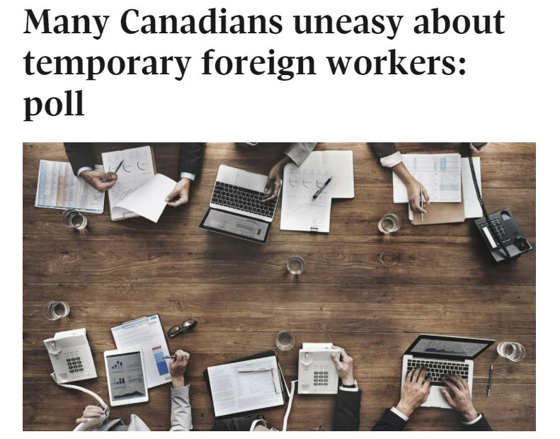 Attached image of Many Canadians uneasy about temporary foreign workers: poll
